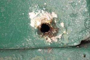 Loch in der Beute - Unterkühlung